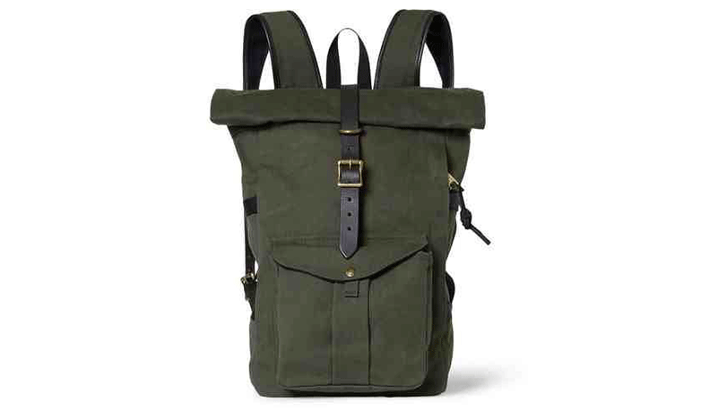 Filson Leather Trimmed Twill Backpack