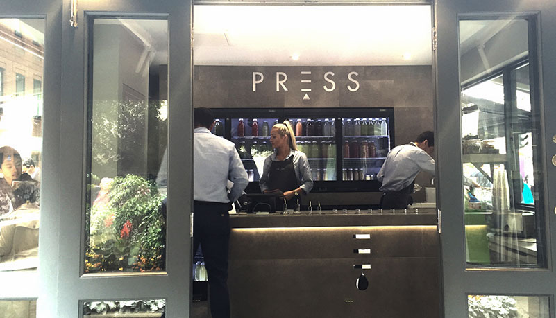 Press Juice open at St Pauls